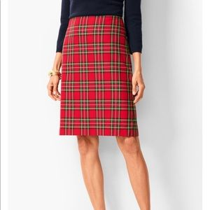 Talbots red plaid skirt, size 12